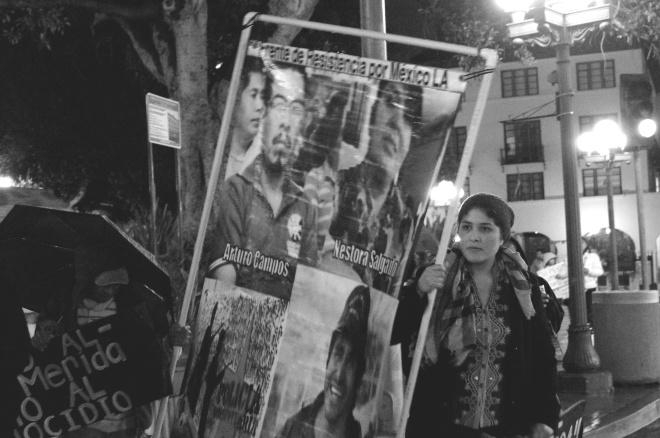 Acción Global for Ayotzinapa en Los Angeles, enero 27 (Andre Medina)